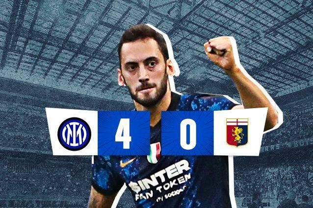 intgen 638x425 - Inter bella e (ancora) feroce, Genoa dominato: 4-0, show di Calhanoglu e Dzeko