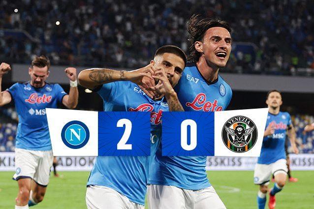 nap 638x425 - Il Napoli in 10 batte il Venezia 2-0, gol di Insigne e Elmas