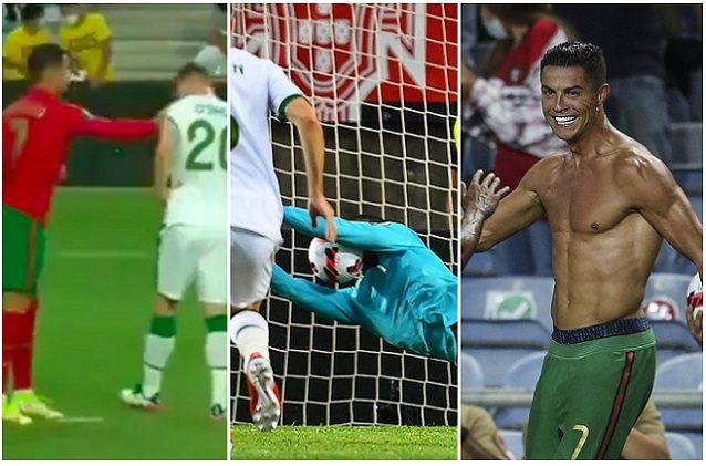 225038623 fd0f725e cecb 45e5 8fab 966faf284a6c - Dalla manata a O'Shea, al rigore sbagliato e il record: la folle notte di Cristiano Ronaldo