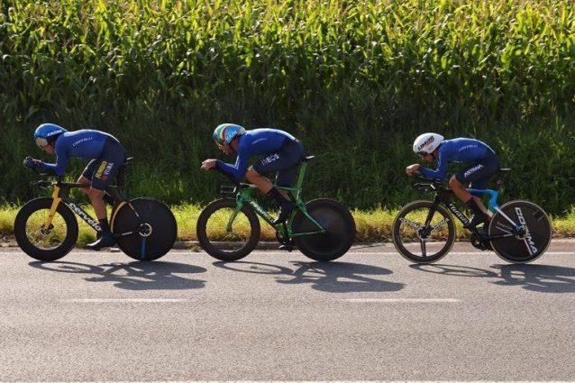 E 5URs2VUAQw0Ak 1632320836026 638x425 - Italia bronzo nella staffetta mista ai Mondiali! Ganna vola, le ragazze ci portano sul podio