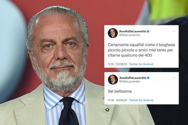 """adl hackerato 638x425 - Strani messaggi di De Laurentiis su Twitter, a ruota libera dopo Napoli-Juve: """"Sei bellissima"""""""