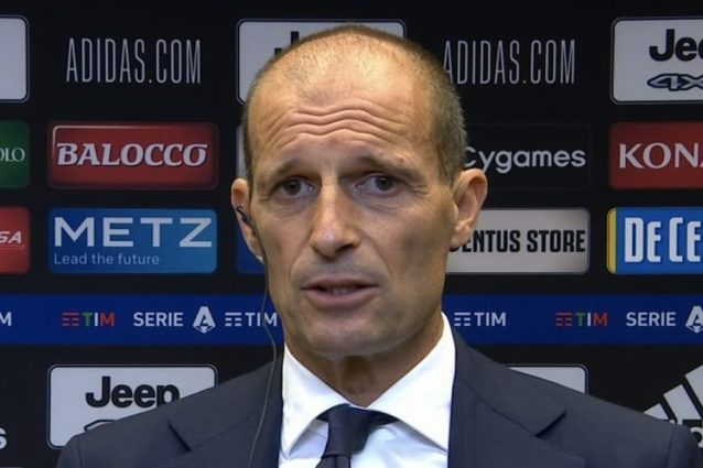 """allegri juve milan 638x425 - L'ira di Allegri si abbatte sulla Juve: """"Non esiste che il Milan possa farci quel gol"""""""