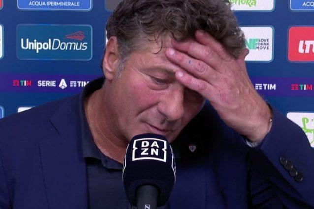 """mazzarri cagliari tv 638x425 - Mazzarri scosso dalla brutta notizia: """"Sono affranto. Qui solo per rispetto vostro"""""""