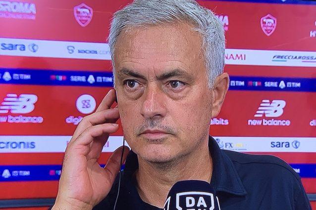 """mourinho post roma udine 638x425 - Mourinho non ci sta e difende il capitano: """"Se c'è solo una possibilità gli faccio giocare il derby"""""""