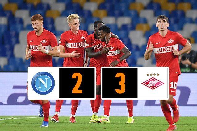 napoli spartak mosca 2 3 638x425 - L'espulsione di Rui pesa sul Napoli, lo Spartak Mosca vince 2-3 al Maradona