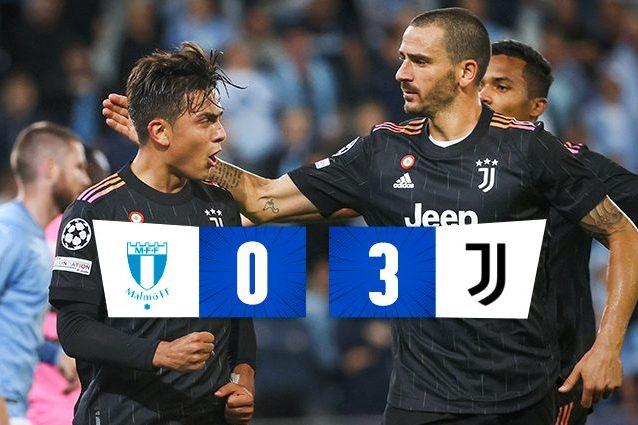 La Juve torna a fare la Juve in Champions: 0-3 facile sul Malmoe