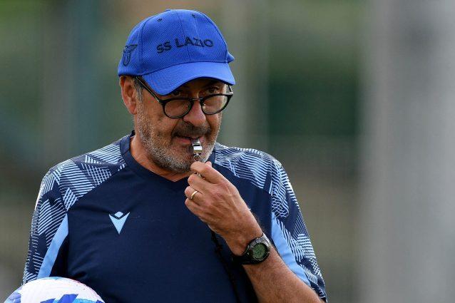 """sarri lazio roma sangiovannese montevarchi 638x425 - Sarri vive il derby Lazio-Roma a modo suo: """"Ero più teso per Sangiovannese-Montevarchi"""""""