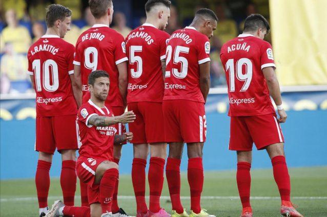 siviglia acuna e papu 638x425 - Troppi nazionali sudamericani impegnati nelle Qualificazioni: in Liga posticipate due partite