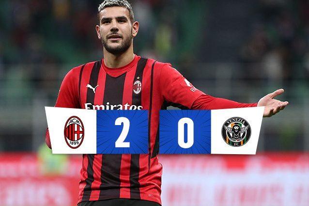 the 638x425 - Theo Hernandez devastante: entra, assist e gol. Il Milan vince 2-0 sul Venezia