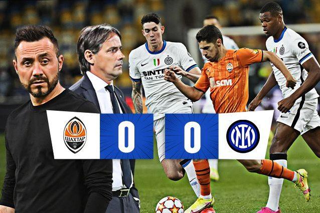 thumbinter 1 638x425 - De Zerbi fa soffrire l'Inter, con lo Shakhtar è 0-0: il girone Champions parte in salita