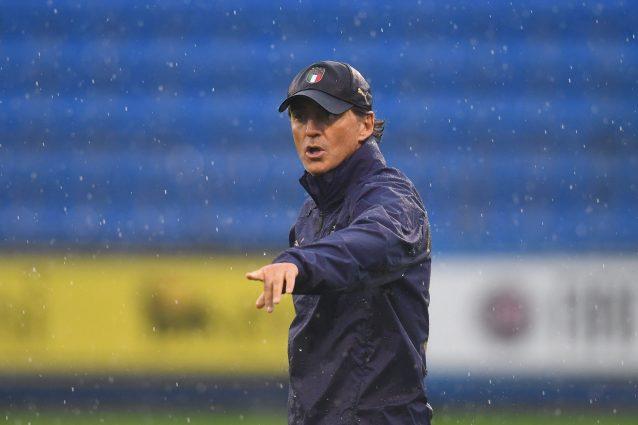 """GettyImages 1344790339 638x425 - Mancini fissa gli obiettivi dell'Italia: """"Vincere la Nations League e qualificarci per i Mondiali"""""""