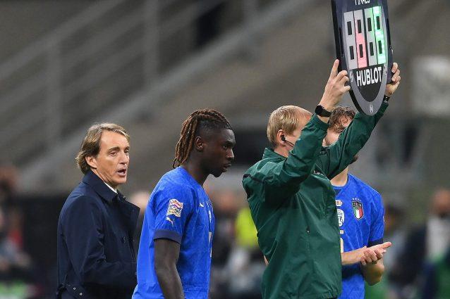 GettyImages 1345201564 1633883900076 638x425 - Kean non convince Mancini, ancora panchina con il Belgio: il ct gli preferisce anche Raspadori
