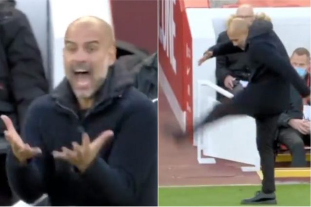 """Schermata 2021 10 03 alle 22.12.21 638x425 - Guardiola impazzisce in panchina in Liverpool-Manchester City: """"Sconcertante"""""""