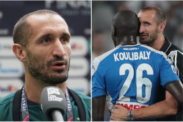 """Schermata 2021 10 05 alle 16.17.33 638x425 - Chiellini turbato dai cori razzisti a Koulibaly: """"Mi sono vergognato, come italiano e toscano"""""""