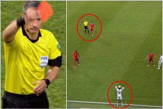 """calciatore espulso svizzera irlanda 638x425 - Ritarda la rimessa laterale, l'arbitro lo espelle: la decisione che """"favorisce"""" la Svizzera"""