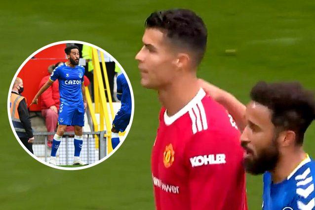 cristiano ronaldo townsend 638x425 - Townsend imita la sua esultanza, Ronaldo reagisce male davanti a tutti: ma non è come sembra