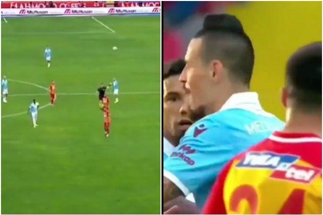 hamsik gol pazzesco annullato 638x425 - Hamsik segna un gol favoloso da centrocampo, ma l'arbitro lo annulla