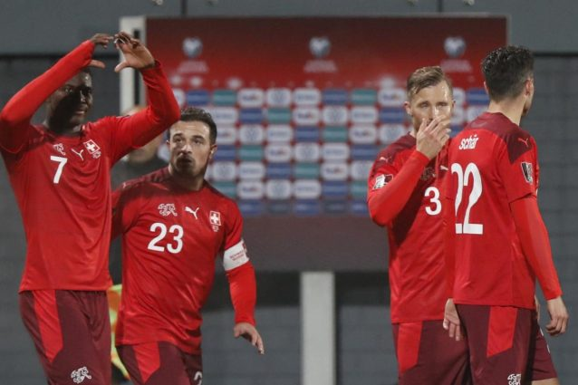 lituania svizzera 638x425 - Missione compiuta, la Svizzera strapazza la Lituania (4-0) e aggancia l'Italia in vetta al Girone