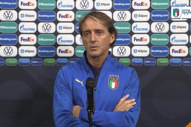 """mancini conf ita belg 638x425 - Mancini vuole vincere Italia-Belgio e sul Pallone d'Oro: """"Deve averlo Jorginho, se lo merita"""""""