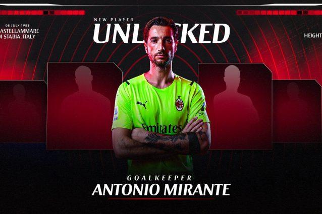 mirante milan ufficiale 638x425 - Antonio Mirante è il nuovo portiere del Milan, ecco l'ufficialità: indosserà la maglia numero 83