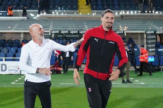 pioli ibra pre gara 1634223368396 638x425 - Ibrahimovic è tornato ad allenarsi in gruppo: sarà a disposizione per Milan-Verona
