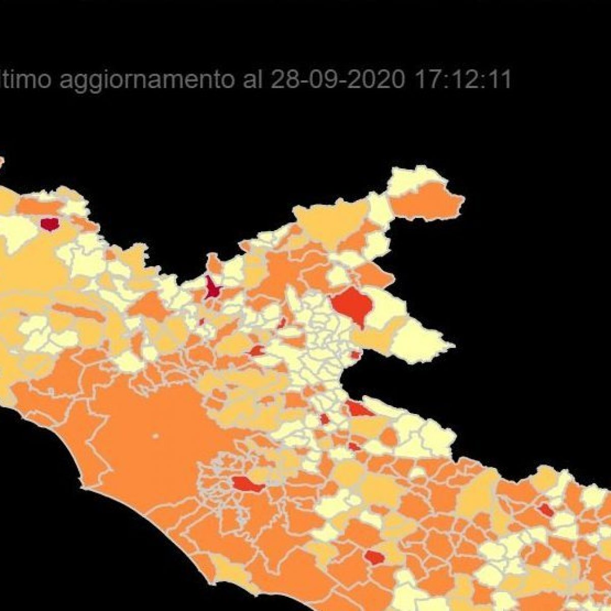 Cartina Lazio.Aumentano I Contagi La Mappa Dei Comuni Del Lazio Con Piu Casi Di Coronavirus