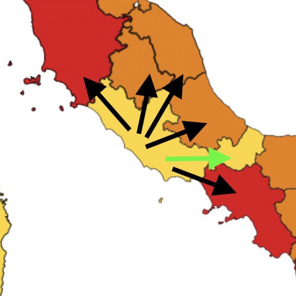 Lazio zona gialla ma 'accerchiato': perché è praticamente impossibile  uscire dalla regione