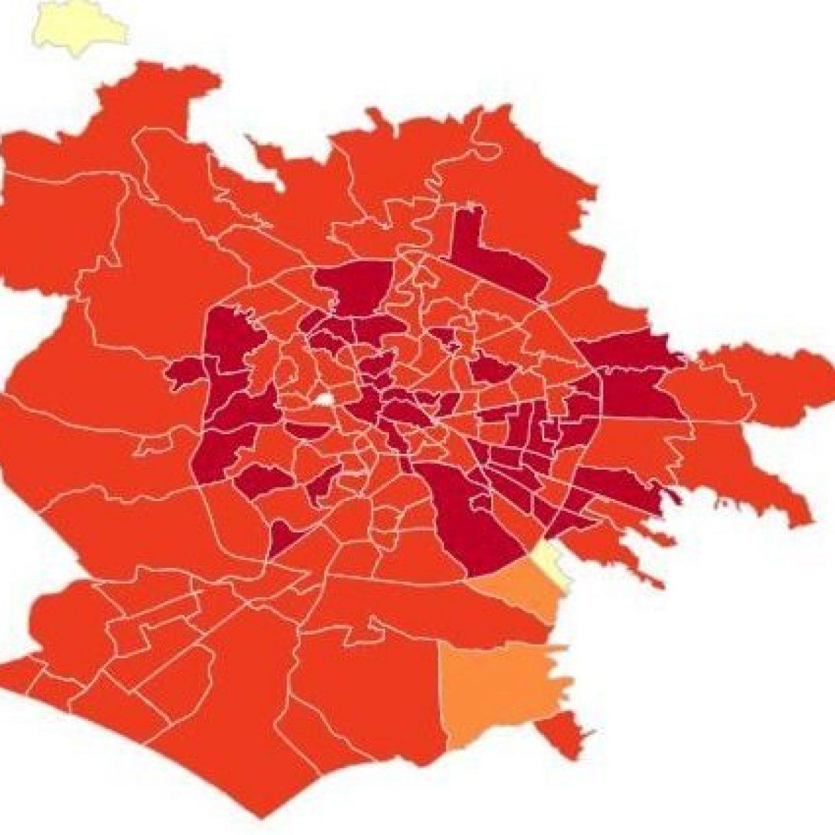 Cartina Roma Nord.Coronavirus Roma I Dati E La Mappa Dei Contagi Per Quartiere Boom Di Casi A Torre Angela