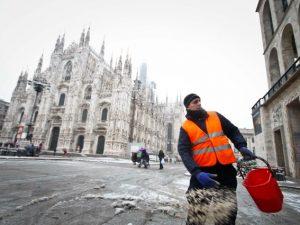Neve a Milano (Immagine di repertorio)