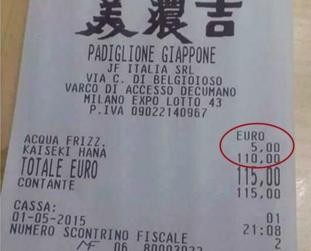 Expo 2015, lo scontrino-choc: 115 euro per un pasto nel padiglione giapponese