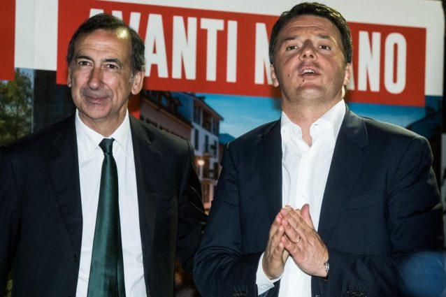 Il sindaco di Milano Beppe Sala con Matteo Renzi