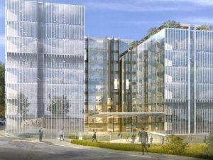Il rendering della nuova sede (Dal blog Urbanfile.org)