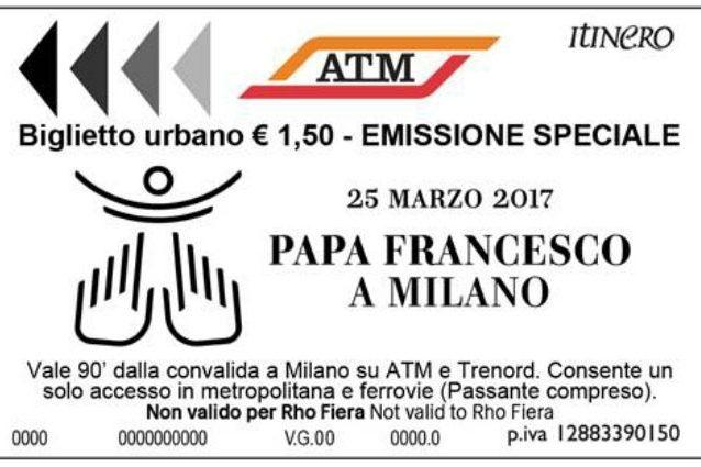 Papa Francesco a Milano: ecco il biglietto speciale per i mezzi pubblici
