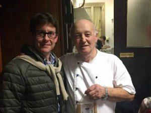 Mario Cattaneo con il sindaco di Albuzzano, Marco Tombola