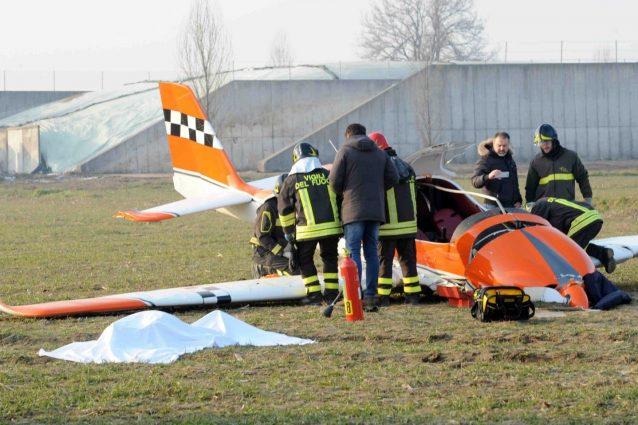Cremona: ultraleggero precipita a Dovera, due morti