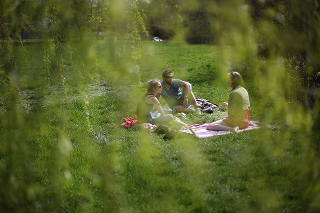 Fare un picnic all'aria aperta (Getty).