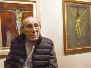 Il pittore Trento Longaretti (LaPresse)