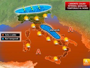 Meteo Milano 12-14 luglio: caldo e afa in città, percepiti 37 gradi