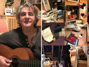 Fausto Leali e la sua casa dopo il passaggio dei ladri (Facebook)