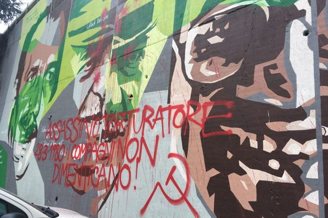 Milano, sfregiato murale di Dalla Chiesa: