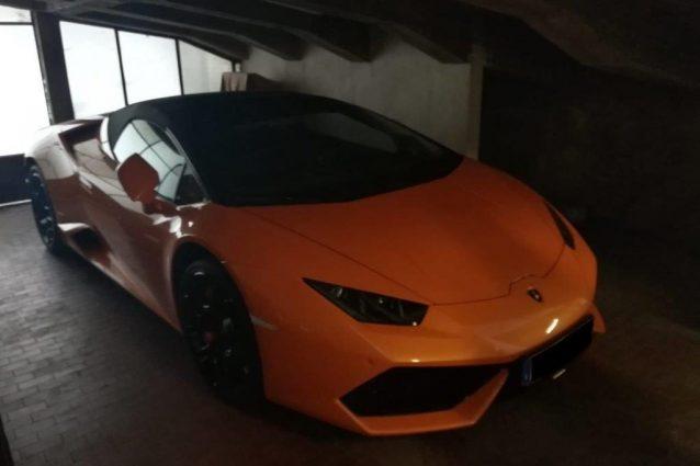 La Lamborghini Huracan sequestrata