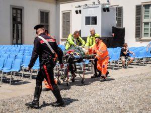 L'incidente a Palazzo Reale (LaPresse)