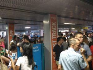 Blackout a Malpensa, voli cancellati – foto Twitter