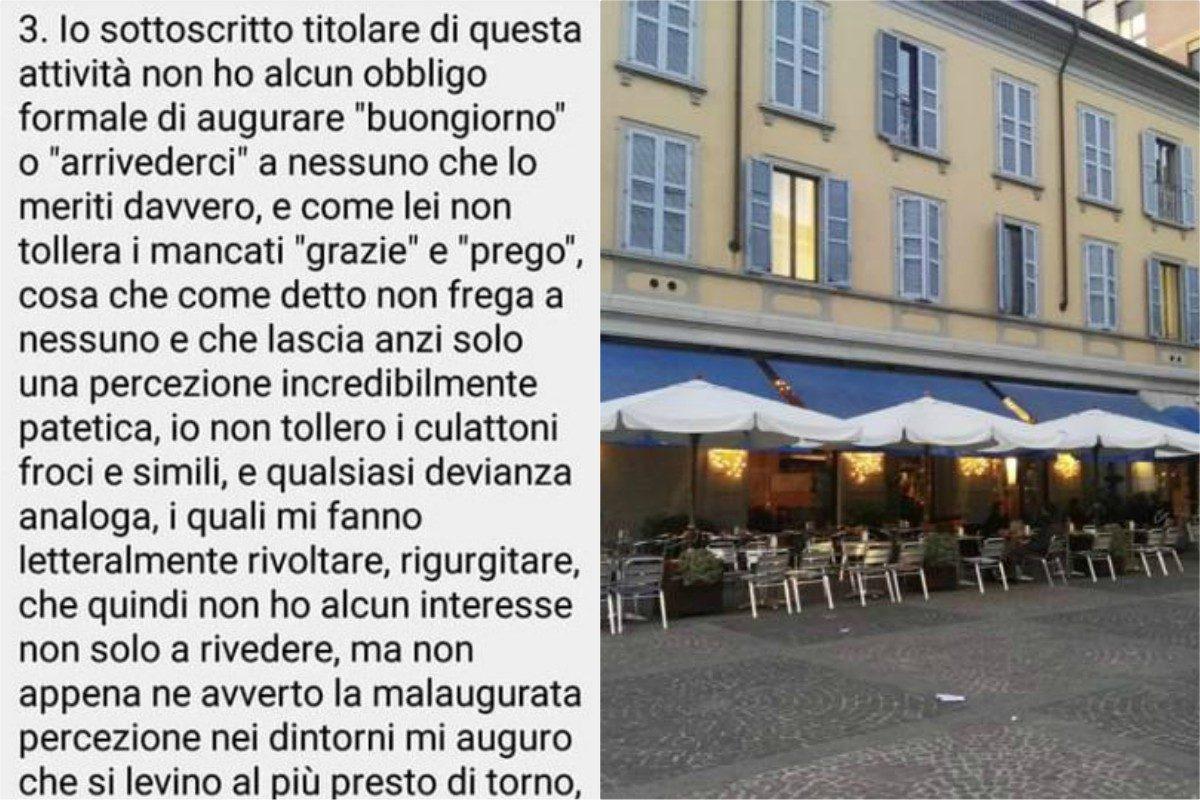 Monza cliente critica caff zucchi su google gestore lo insulta non tollero culattoni e froci - La cucina di via zucchi monza ...