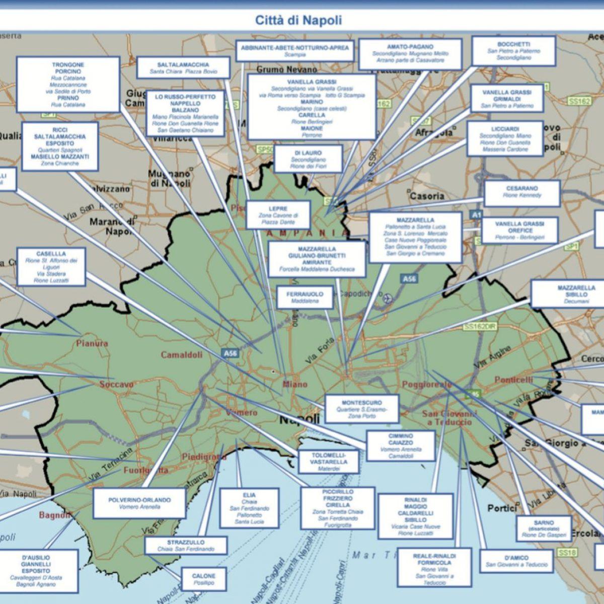 La Cartina Di Napoli.La Mappa Dei Clan Di Camorra A Napoli