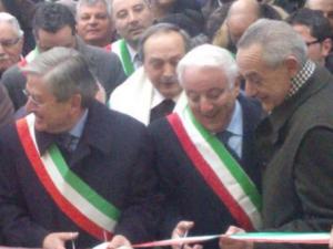 Floriano Panza, a sinistra, con Santagata e De Caro