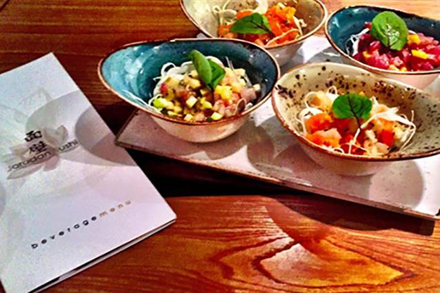 Tartare mista dello Jorudan Sushi Restaurant di Napoli
