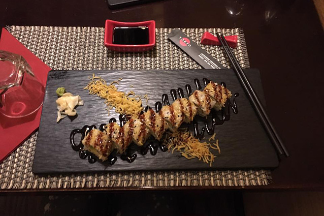 Uramaki vegetariani del ristorante Tokyo