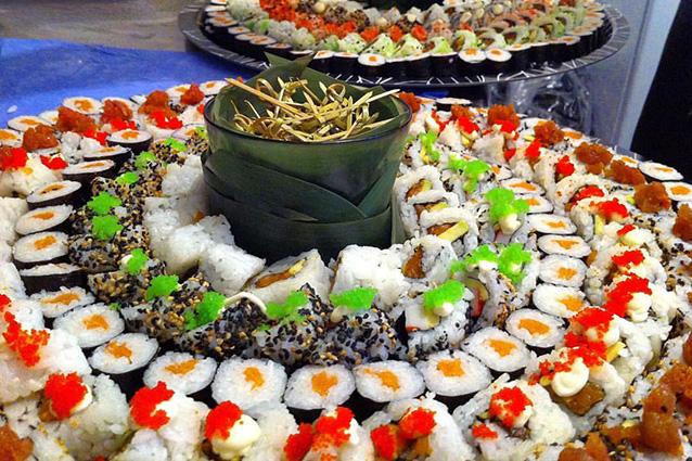 Piatto di sushi del ristorante Kukai.