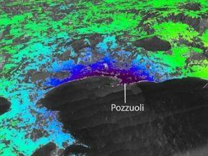 L'innalzamento del suolo nei Campi Flegrei, osservato dai satelliti (foto Cnr–Irea)